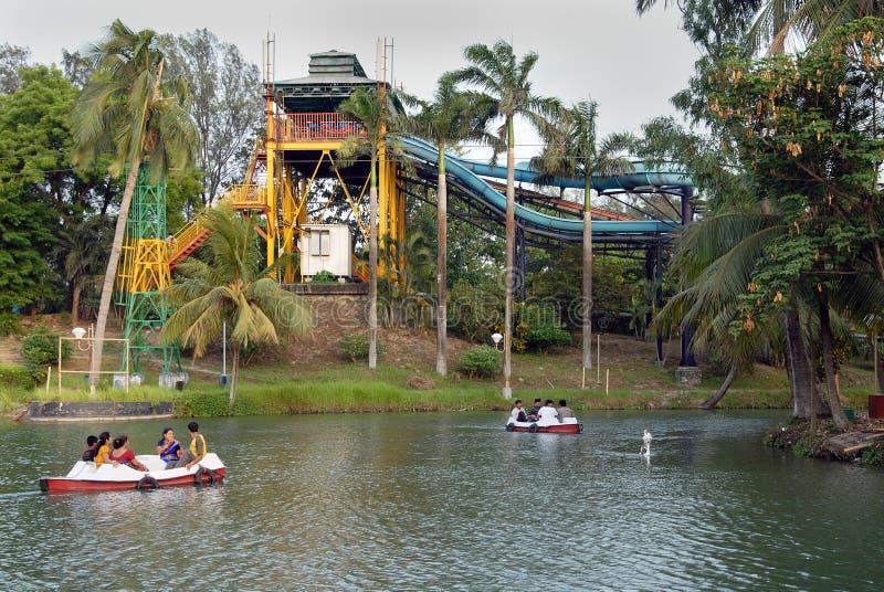 Het park van Nicco in kolkata-India stock afbeelding