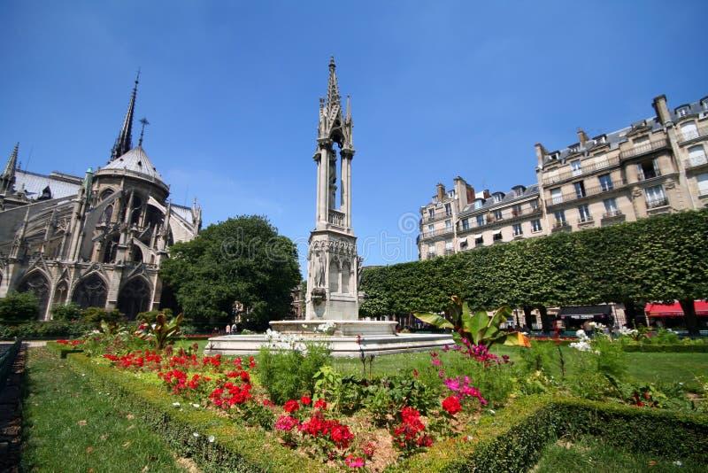 Het Park van Notre Dame royalty-vrije stock afbeelding