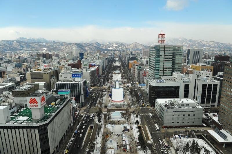 Het Park van Odori (Sapporo) royalty-vrije stock afbeelding
