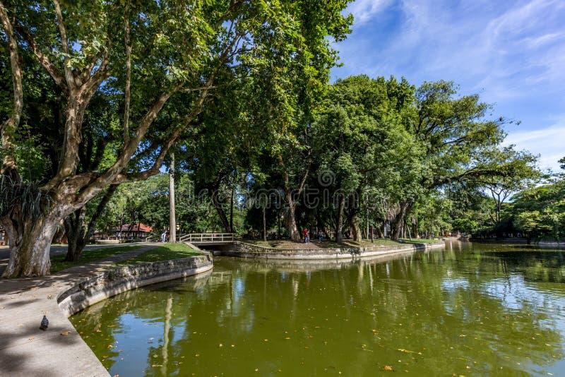 Het Park van Passeiopublico Curitiba, de Staat van Parana - Brazilië royalty-vrije stock afbeeldingen