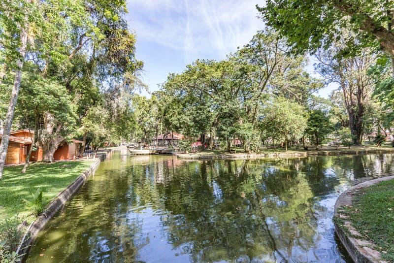 Het Park van Passeiopublico Curitiba, de Staat van Parana - Brazilië royalty-vrije stock fotografie