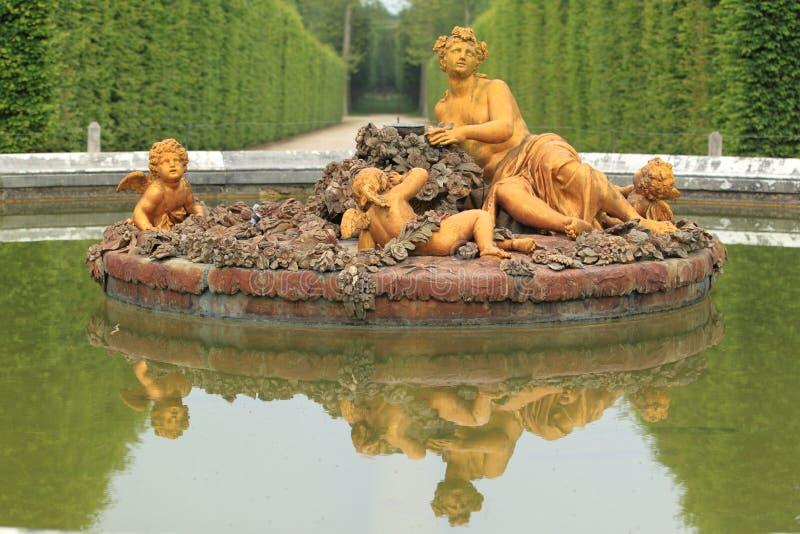 Het park van Versailles stock foto
