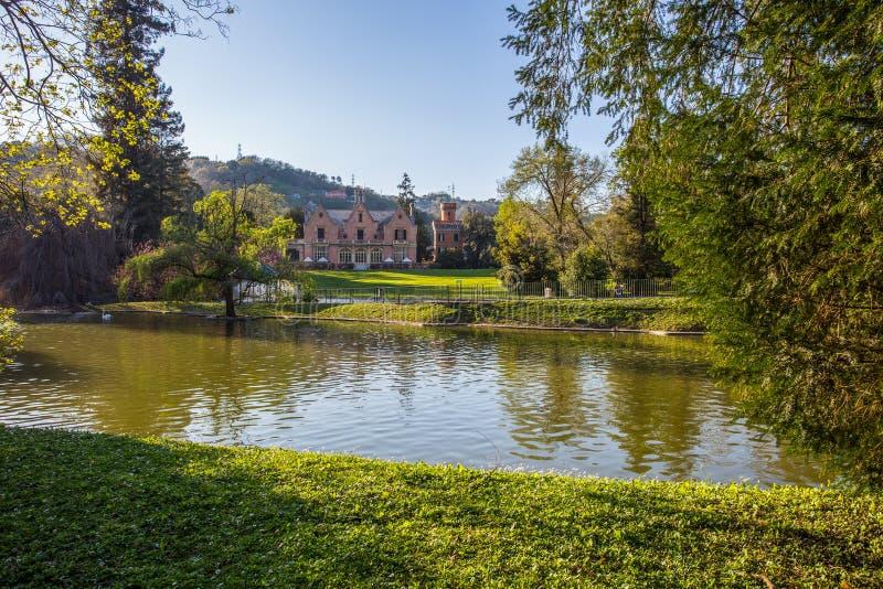 Het park van villaserra di comago, Genoa Genova, Italië stock foto