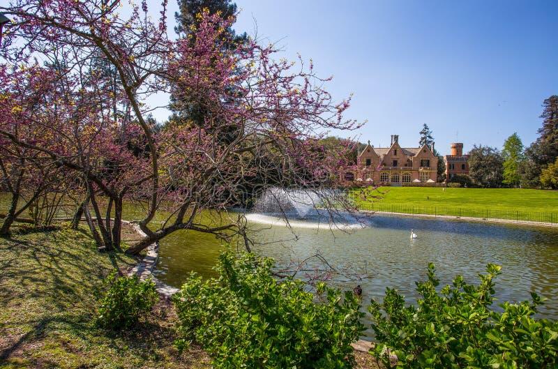 Het park van villaserra di comago, Genoa Genova, Italië stock foto's