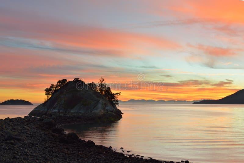 Het park van Whytecliff in West-Vancouver stock foto's