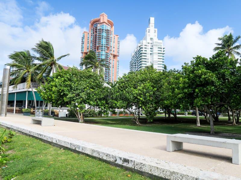 Het Park van zuidenpointe in Miami stock foto's