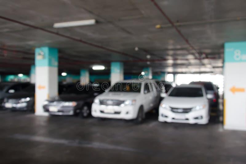 Het parkeren onduidelijk beeld royalty-vrije stock afbeelding