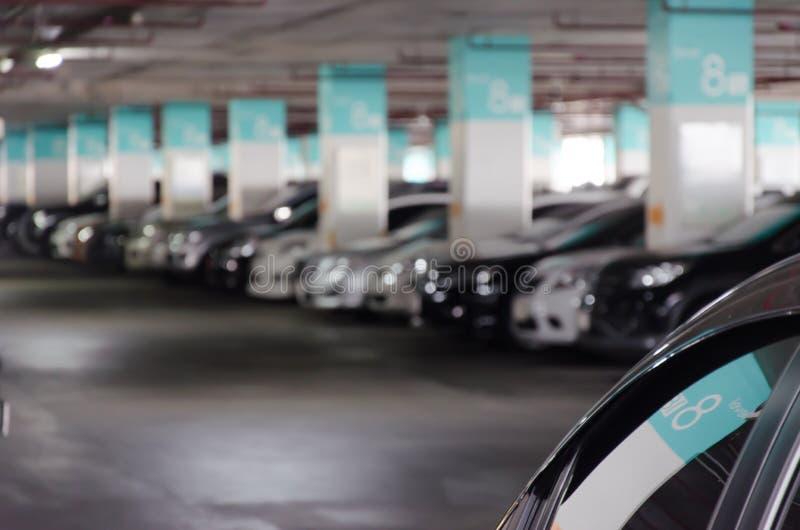 Het parkeren onduidelijk beeld royalty-vrije stock fotografie