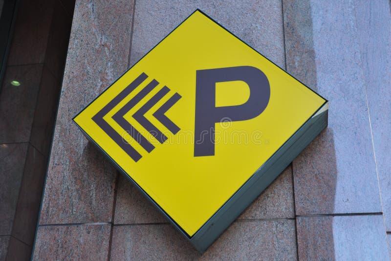 Het parkeren teken stock fotografie