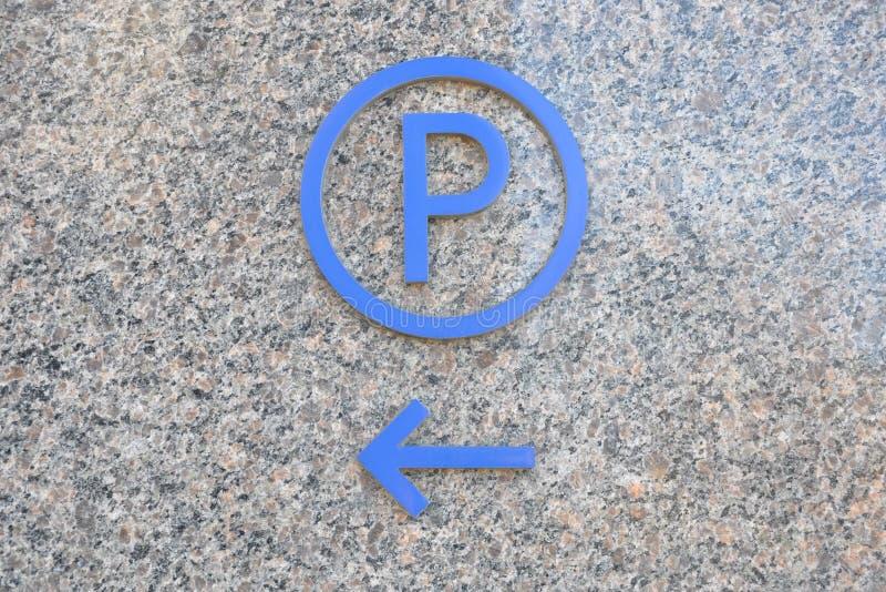 Het parkeren teken royalty-vrije stock afbeeldingen