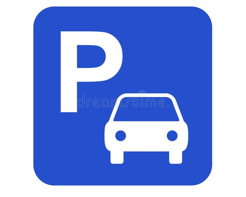 Het parkeren teken vector illustratie