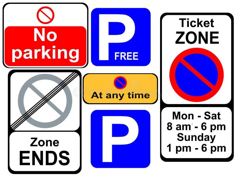 Het parkeren tekens vector illustratie