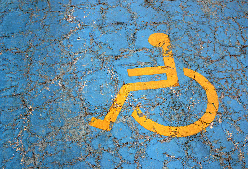 Het parkerenplaats van de handicap royalty-vrije stock afbeelding