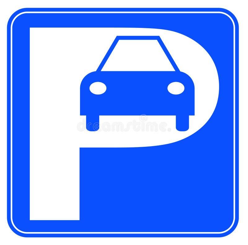 Het parkerenteken van de auto stock illustratie