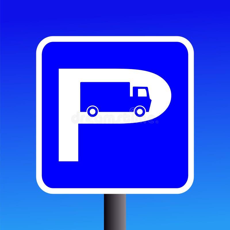 Het parkerenteken van de vrachtwagen stock illustratie