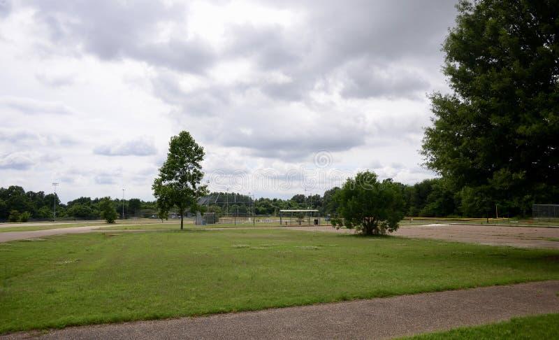 Het Parkhonkbalveld van Bolton, Bolton, TN stock foto