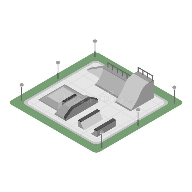 Het parkpictogram van de stadsvleet, isometrische stijl royalty-vrije illustratie