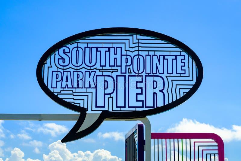 Het Parkpijler van zuidenpointe stock fotografie