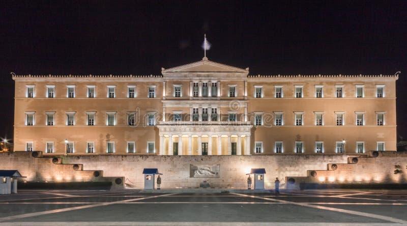Het Parlement Athene van Griekenland stock foto
