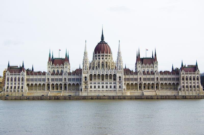 Het Parlement in Boedapest stock afbeelding