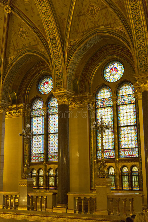 Het Parlement Boedapest stock foto