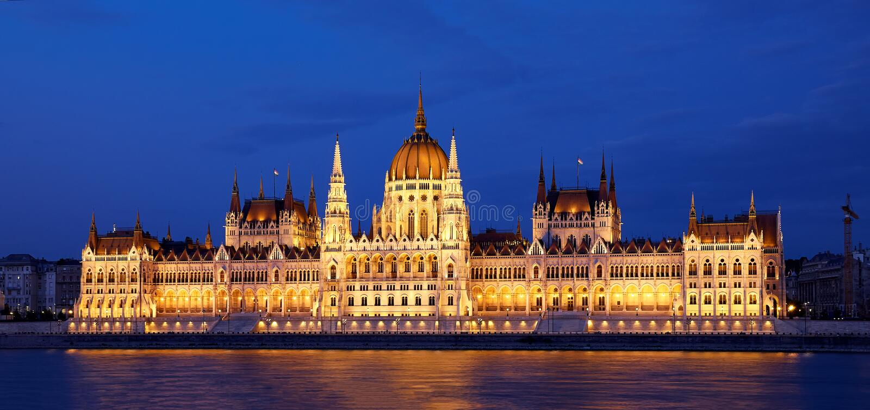 Het Parlement in Boedapest royalty-vrije stock afbeelding