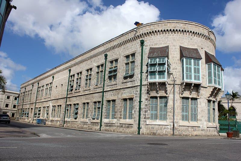Het Parlement de Bouw van Bridgetown, de Voorraadfoto van Barbados: Beeldidentiteitskaart: 164607917 stock fotografie