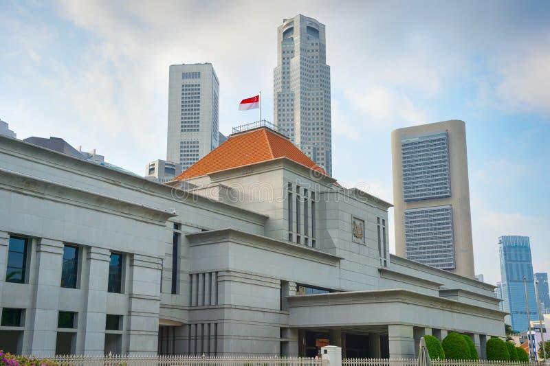 Het Parlement de bouw van Singapore stock foto