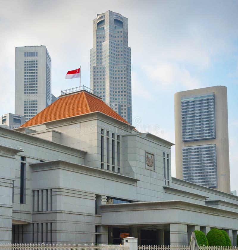Het Parlement de bouw van Singapore royalty-vrije stock afbeelding