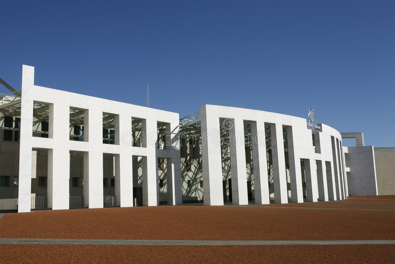 Het Parlement Huis Canberra royalty-vrije stock foto