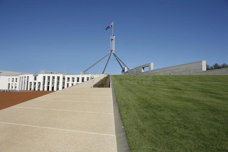 Het Parlement Huis Canberra stock fotografie