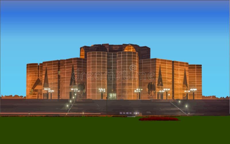 Het Parlement Huis van de Vector van Bangladesh stock foto