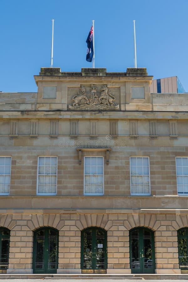 Het Parlement Huis van Tasmanige in Hobart, Australië stock foto