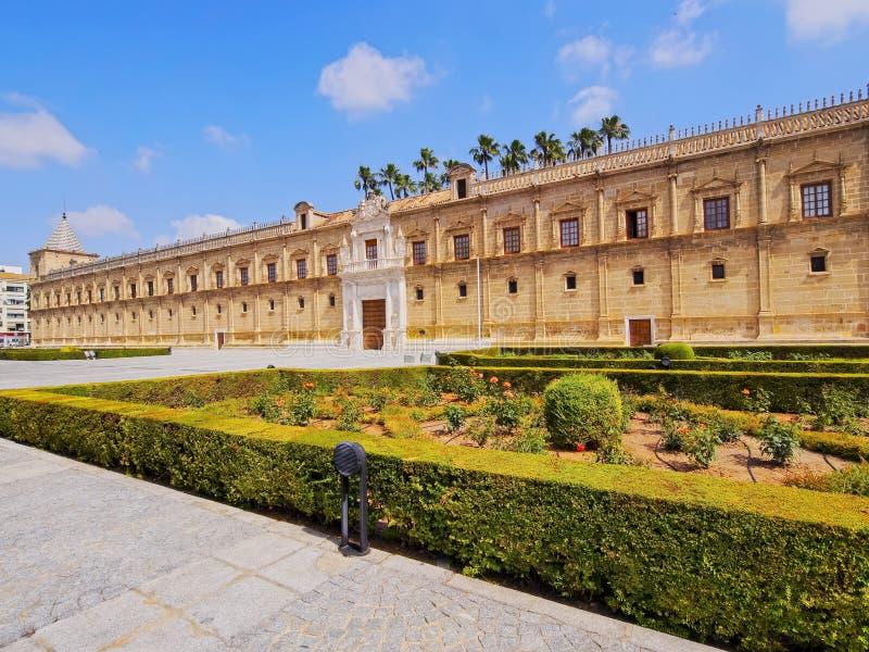 Het Parlement van Andalusia in Sevilla, Spanje stock afbeeldingen