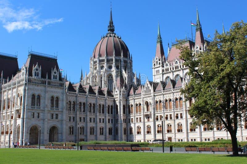 Het Parlement van Boedapest Hongarije het vierkant van Kossuth Lajos royalty-vrije stock foto