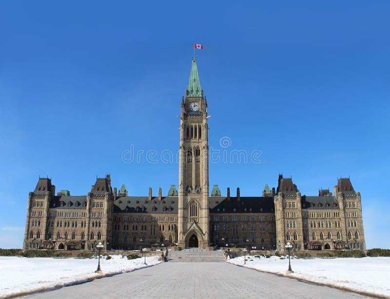 Het Parlement van Canada stock afbeelding