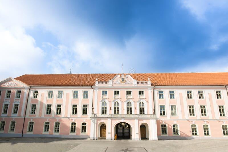 Het Parlement van Estland in Tallin stock afbeeldingen