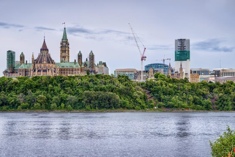 Het Parlement van Ottawa stock foto's
