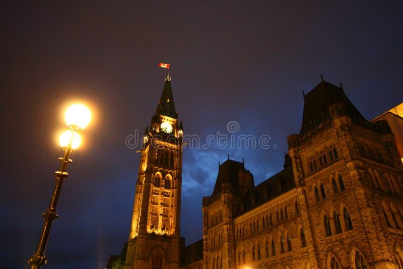 Het Parlement van Ottawa Heuvel stock foto's
