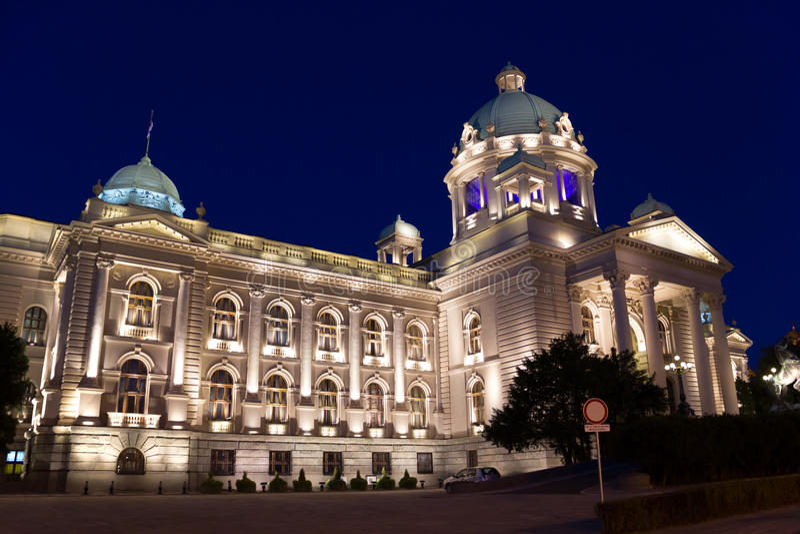 Het Parlement van Servië stock foto's