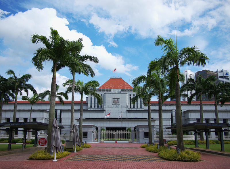 Het Parlement van Singapore stock afbeeldingen