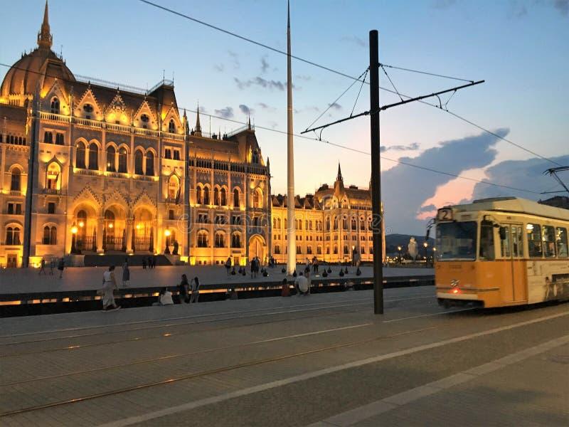 Het Parlement vierkant, Boedapest stock foto's