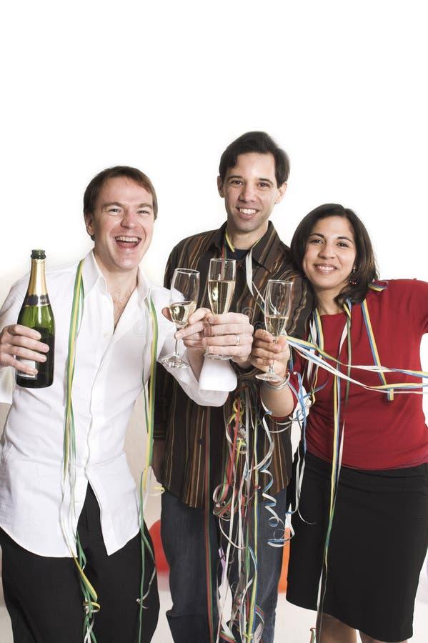 Het partying van mensen royalty-vrije stock afbeelding