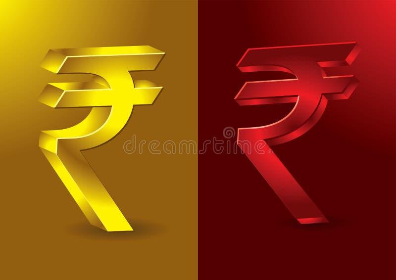 Het pas gevormde Indische symbool van Roepies