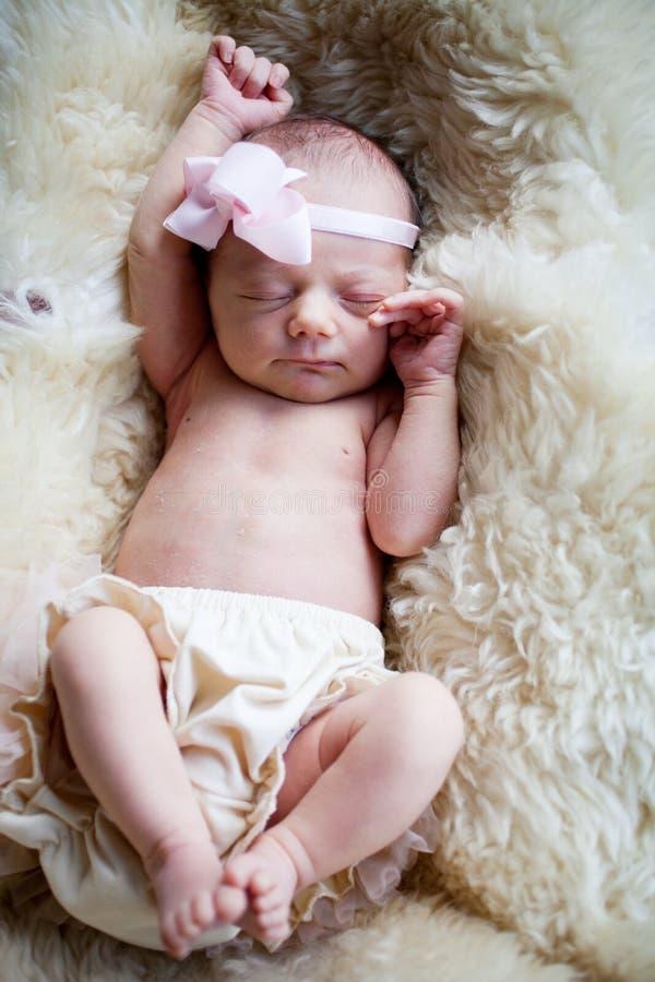 Het pasgeboren Meisje van de Baby royalty-vrije stock afbeeldingen