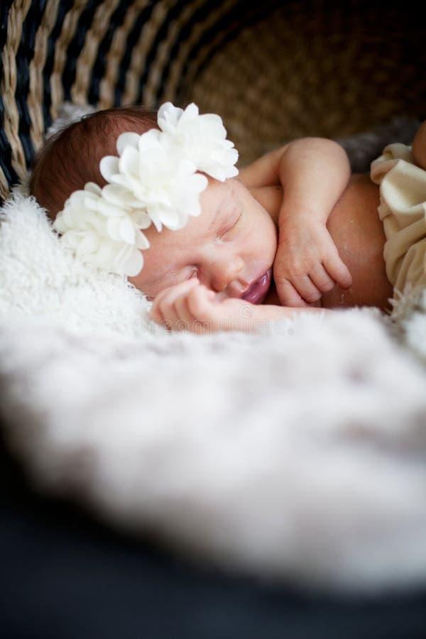 Het pasgeboren Meisje van de Baby stock foto's