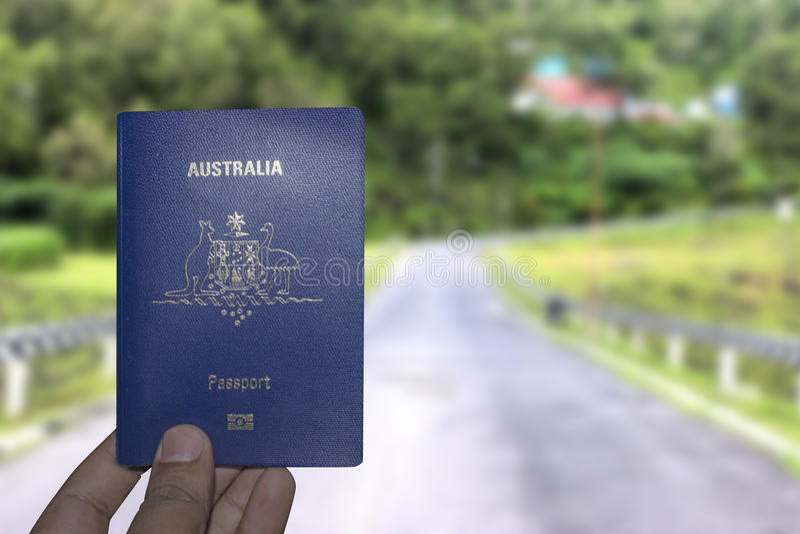 Het paspoort van Australië stock afbeelding