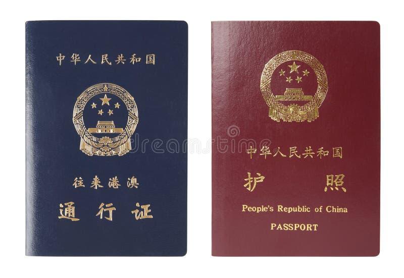 Het paspoort van China stock afbeeldingen