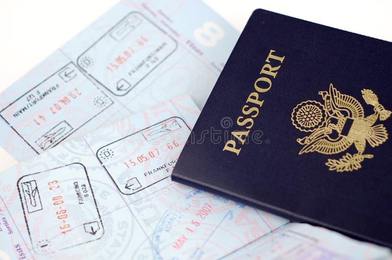 Het Paspoort van de V.S.: Rome, Frankfurt stock afbeeldingen