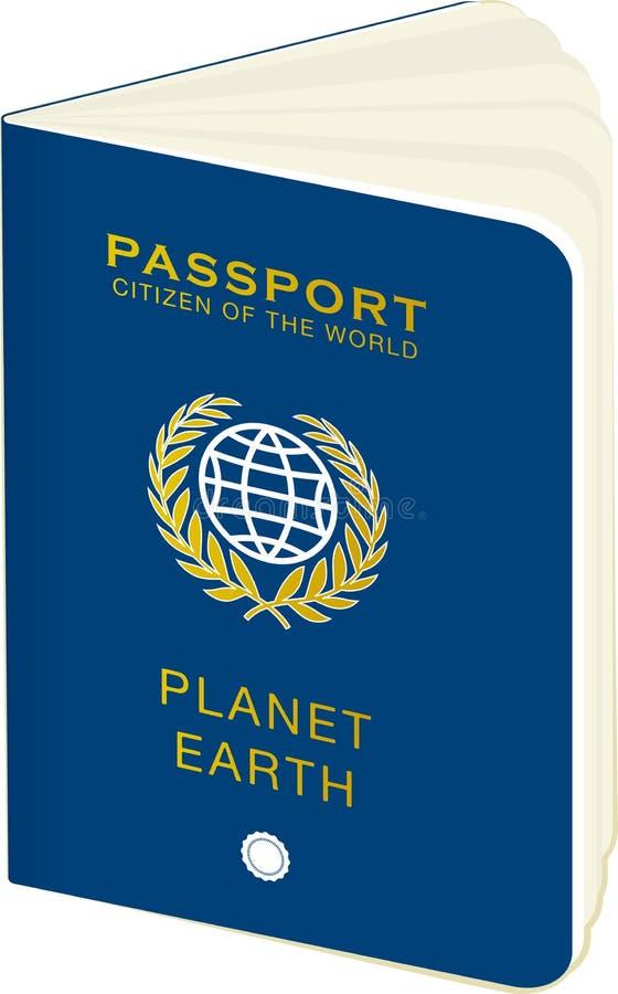 Het paspoort van de wereld stock illustratie